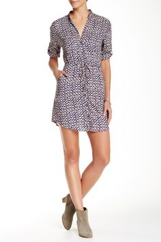 Angie - Patterned Shirt Dress at Nordstrom Rack. Free Shipping on orders over $100.