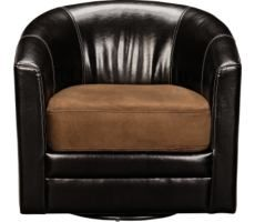 American Signature					Kobe Chocolate Swivel Chair