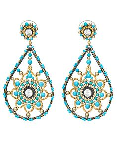 miguel ases | Miguel Ases Turquoise Chandelier Earrings