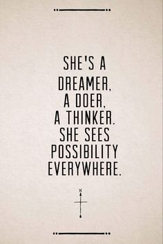 dreamers. doers. thinkers | via smart sassy sweet Sisters ~ Cityhaüs Design