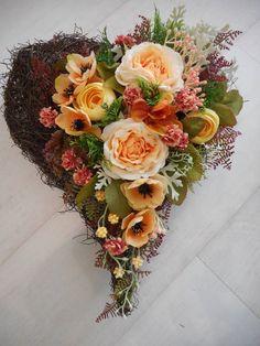 SM-Style / Na hrob- srdiečko Stylus, Wedding Flowers, Floral Wreath, Wreaths, Decor, Flowers, Floral Crown, Decoration, Style