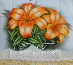 lírios laranja Rose Ferreira  color