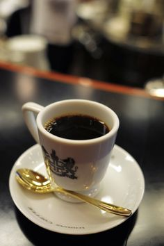 Inoda Coffee, Kyoto, Japan - They supply coffee that already has sugar and milk mixed in.