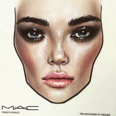 Finished look   Arturo by Amalia Bot #maccosmeticsromania #maccosmetics #macfacechart #facechart #ss17trends #amaliabot