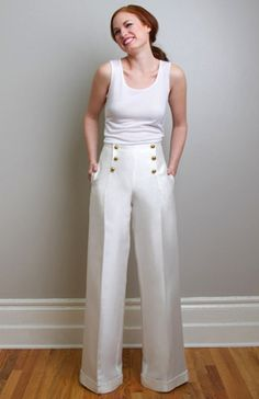 Ginger Wedding Pants Separates - Cruise your way down the aisle a truly modern… Pantalon Elephant, Trendy Outfits, Cool Outfits, Wedding Pants, Wedding Dresses, Fashion Pants, Fashion Outfits, Sailor Pants, Look Chic
