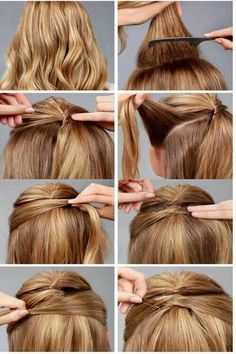 Long hair ponytail trick