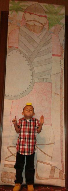David and Goliath 9 foot decor