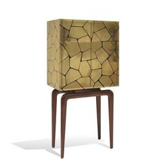 The Cinzano Cabinet in brass by Scala Luxury