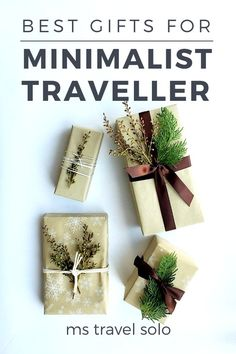 Minimalist Christmas Gifts: What to get a Minimalist Traveller - ms travel solo - What do you get a minimalist traveller who doesn't want anything? Shopping can be quite stressful - Christmas Travel, Christmas Gift Guide, Christmas Gifts, Holiday Travel, Packing Tips For Travel, Travel Advice, Packing Lists, Travel Guides, Travel Gadgets