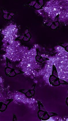 A perfect purple butterfly wallpaper