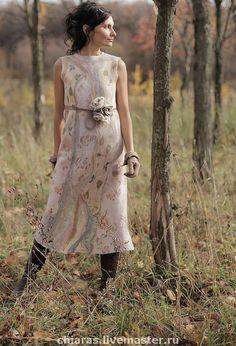 """Купить платье """"молочные реки.."""" - авторское платье, шерстяное платье, нарядное платье"""