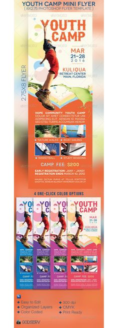 Youth Camp Mini Flyer Template
