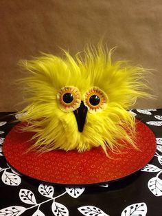 Sunny Jim The Petite Yellow Plush Owl by VagabondArtistry on Etsy