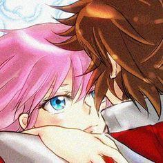 Saori ( Athena ) and Seiya
