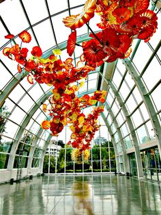Dale Chihuly's Garden and Glass in Seattle, Washington   http://www.rtwgirl.com/seattle-day-trip-itinerary/