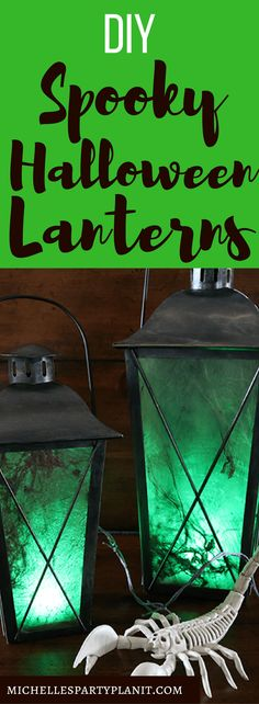 DIY Lanterns - Easy and fun DIY decorations for your Halloween displays! Spooky Halloween, Halloween Mono, Halloween School Treats, Halloween Party Supplies, Theme Halloween, Halloween Displays, Outdoor Halloween, Halloween Projects, Diy Halloween Decorations