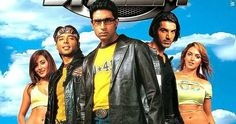 Sinopsis Dhoom A gang of bikers headed by the cool-headed and arrogant Kabir is on a robbing spree in Mumbai. They rob establishments . Bollywood Masala, Bollywood News, Bollywood Actress, Movies Bollywood, Hindi Movie Film, Movie Songs, Watch Hindi Movies Online, Dhoom 2, Street Racing