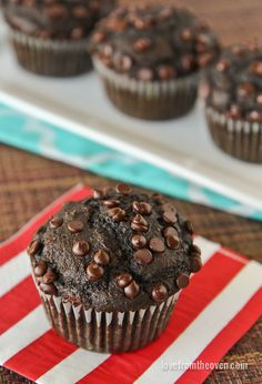 These delicious chocolate banana muffins are easy to make and a great way to start the day.
