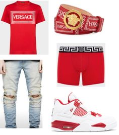Dope Outfits For Guys, Swag Outfits Men, Tomboy Outfits, Cool Outfits, Teen Boy Fashion, Tomboy Fashion, Trendy Clothes For Teen Boys, Hype Clothing, Fresh Outfits