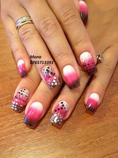 Konad Stamping and Ombre Nail Art