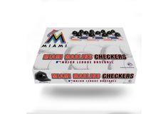 Miami Marlins MLB Checker Board Game Set
