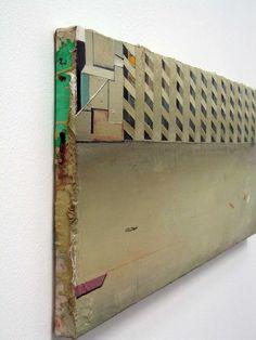 Matthias Weischer, Hof IV, 2004. Oil on canvas. Side view.