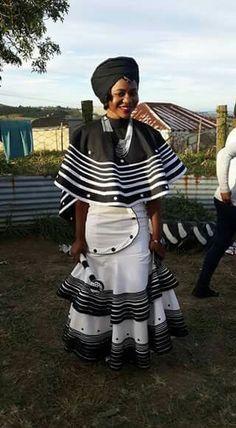 Xhosa traditional wedding attire for 2019 African Fashion Traditional, African Traditional Wedding, African Men Fashion, African Wear, African Attire, African Fashion Dresses, African Women, African Dress, Africa Fashion
