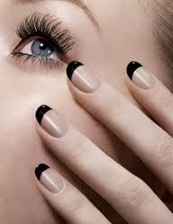 French Manicure Black tip.
