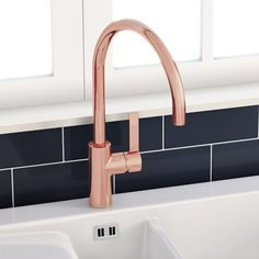 Just Taps Rose Gold Single Lever Kitchen Sink Mixer Tap Home - Rose gold kitchen faucet