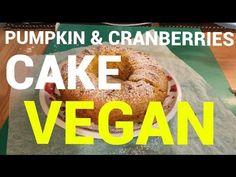 TORTA VEGANA ALLA ZUCCA E MIRTILLI - YouTube Cranberry Cake, Pumpkin, Youtube, Pumpkins, Squash, Youtubers, Youtube Movies