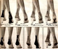 - The history behind stockings and nylons with back seams and fancy heel designs. Plus where to shop for vintage back seamed stockings. Stockings and Nylons History & Shopping Guide Love Vintage, Vintage Mode, Style Vintage, Vintage Shoes, Vintage Accessories, Retro Vintage, Vintage Clothing, 1950s Style Tops, Style Retro