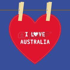 I lOVE AUSTRALIA  letter  Card for decoration  photo