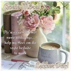Lekker Dag, Goeie More, Mugs, Words, Afrikaans, Inspiration, Lilac, Cottage, Inspired