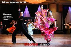 """stephenmarino:    Ballroom photography tip #33  When yourJaw drops…  """"CLICK""""  Photo by Stephen Marino  Dancers: Peter and Alenendria Pershu  YouTube """"Promote yourself, opportunity or product with great photography""""   http://youtu.be/Avv0vfsGWm0"""