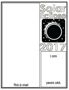 The solar eclipse is a once in a lifetime experience. Even if your students don't get to experience it directly, they can complete one or both of these pages to commemorate the event.