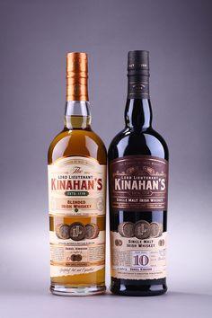 "Irish whiskey rebranding ""Kinahan's""/Ребрендинг виски on Behance Irish Whiskey Brands, Single Malt Irish Whiskey, Jameson Irish Whiskey, Baileys Drinks, Irish Drinks, Whiskey Cocktails, Bourbon Drinks, Cigars And Whiskey, Packaging"