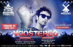 """Cresta Metálica Producciones » El Molino presenta: """"Vodka Night Tribute: Soda Stereo y Gustavo Cerati"""" (Caracas) // 25 Abril 2015"""