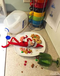 Too much cookies & milk.  Over 75 Elf on the Shelf ideas...
