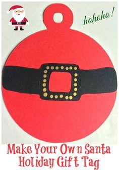 Make Your Own Santa Holiday Gift Tag