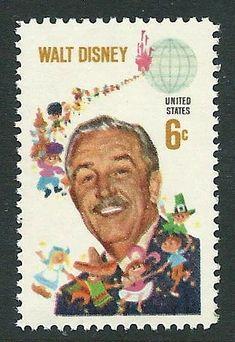 Reserved Custom order for Nancy .. Vintage Unused US Postage Stamp 6c WALT DISNEY .. Pack of 100 by TreasureFox on Etsy