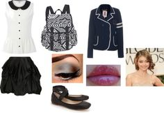 """school outfit"" by rockinout ❤ liked on Polyvore"
