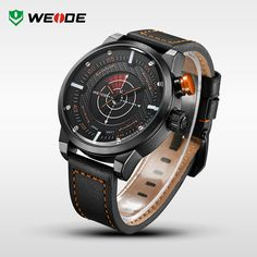 WEIDE New Casual Watch Men Wristwatch Genuine Leather Strap 30 Meters Waterproof relogio masculino With Gift Paper Box Packaging http://www.aliexpress.com/store/product/WEIDE-New-Casual-Watch-Men-Wristwatch-Genuine-Leather-Strap-30-Meters-Waterproof-relogio-masculino-With-Gift/910933_32368262799.html