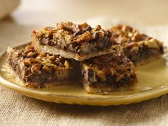 Chocolate Pecan Pie Bars. Source: http://www.bettycrocker.com/recipes/chocolate-pecan-pie-bars/3654d9b0-1312-4783-92c2-83e9e4abf0ac
