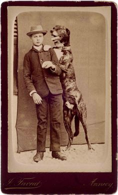A young country gent and his eager dog. from the e-book album here: http://bookswithoutborders.co.uk/publication/country-gents-dogs