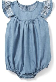 Chambray Bubble One-Piece for Baby