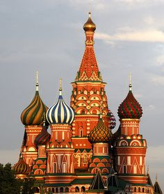 St. Basil Cathedral, Moscow. This is my favorite building in the world.  I would LOVE to see it in person.  I imagine it to be beautiful.