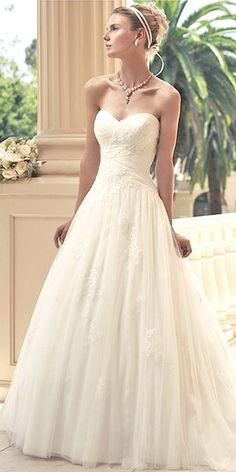 18 Stunning Wedding Dresses Under $1,000 ❤ See more: http://www.weddingforward.com/cheap-wedding-dresses/ #wedding #dresses #cheap