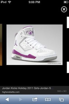 huge discount eb68b b7d6d Purple and white Jordan high tops for girls. Luv it!!! Girls Sneakers