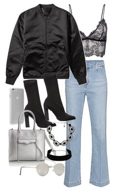 """""""Untitled #11180"""" by minimalmanhattan on Polyvore featuring AG Adriano Goldschmied, Anine Bing, Case-Mate, Acne Studios, Calvin Klein Collection, Rebecca Minkoff, Forever 21 and Vanessa Mooney"""