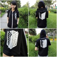 Attack On Titan Recon Corps Hooded Sweatshirt T-Shirt Cosplay Hoodie or Shortpants AHHHHHHHHHHHHHHHHHHHHHHHHHHHHHHHHH!!!!!!!!!!